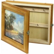drewniana skrzyneczka na klucze